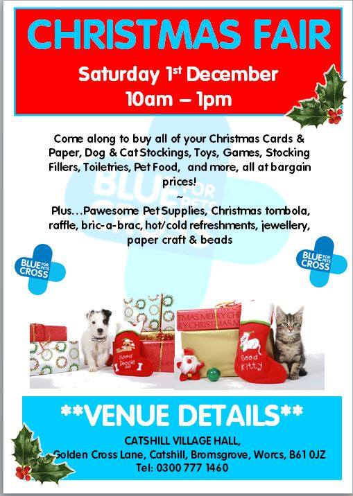 blue cross xmas fair
